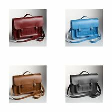 Zatchels - Cartella in Pelle Fatta a Mano con Spallacci Zaino - British Made