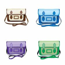 Zatchels - Borsa in Pelle Fatta a Mano - Bicolore - Satchel British Made - Donna