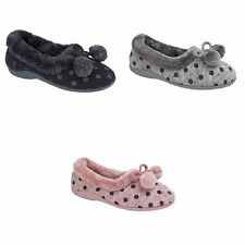 Sleepers - Babbucce Invernali Memory Foam Fantasia a Pois - Donna (DF282)