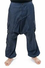 Pantalon sarouel baggy jean denim mixte