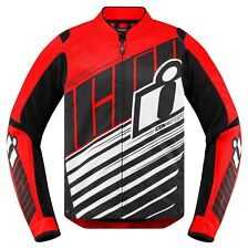 Icon Overlord SB2 Motorcycle Motorbike Jacket Red/Black | All Sizes
