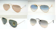 SUNGLASSES RAYBAN ORIGINAL RB 3025 CALIBER 55 AVIATOR LARGE METAL NEW
