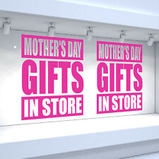2 x MOTHER'S DAY GIFTS IN STORE Shop Window Vinyl Stickers Retail Decals