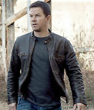Contraband Mark Wahlberg's Men Slim Fit Distressed Real Cow Hide Leather Jacket