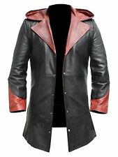 New Long Coat Devil May Cry Dante Halloween Cosplay Costume Real Leather Jacket