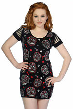 Mexican Sugar Candy Skull Gothic Punk Emo Rockabilly Top By Banned Apparel