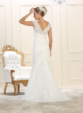 Informal Bridal Wedding Dress Ball Gown Ivory Beading Lace/Tulle Mermaid 4~20