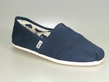Toms Scarpe CLASSIC SLIP ON Blu Marina casual Pantofola + NUOVO + . diverse