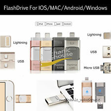 32 64 128GB USB i-Flash Drive OTG Device Memory Stick Flash For iPhone 5 SE 6 7