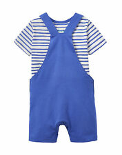 Joules Jersey Denim Dungaree Set - Dazzling Blue