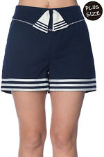 Banned Set Sail Plus Size Vintage Retro Shorts