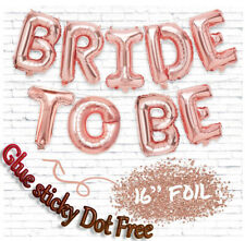 """Shiny 16"""" Foil Balloons 'BRIDE TO BE' ROSE Gold Letter Wedding Bridal Hen Party"""