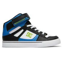 DC SHOES PURE HIGH TOP SE EV BLACK BLACK WHITE YOUTH TRAINERS