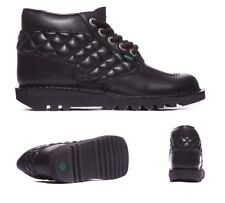 Kickers Kick Hi Side Quilted Black Youth School / Formal Shoes RRP £59.99