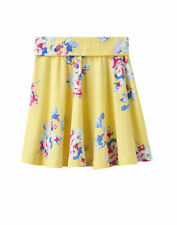 Joules Jersey Skater Skirt - Yellow Margate Floral
