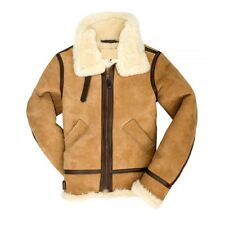 Women's B-3 Suede Bomber Leather Jacket soft suede for todays women.