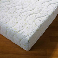 MEMORY FOAM MATTRESS TOPPER WITH ALOE VERA QUILTED MATTRESS PROTECTOR ZIPE COVER