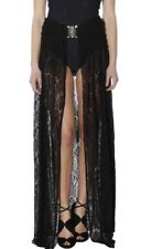 FOREVER UNIQUE Gonna Lunga Pareo Pizzo Nero брюки Sea Black Lace Long Skirt New