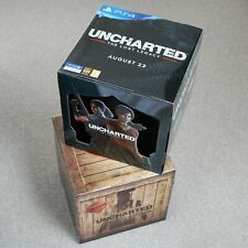 UNCHARTED SONY PS4 PLAYSTATION 4 GAME RARE PROMO SHOP DISPLAY BOX CUBE - NEW