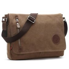 Men Bag Vintage Messenger Bag Military Canvas Shoulder Satchel for School & Work