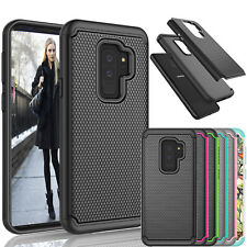 For Samsung Galaxy S9 Plus Shock Absorbing Bumper Hard Shell Protect Case Cover