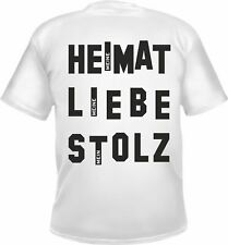 Alemania Camiseta Hombre - Meine Heimat LIEBE ORGULLOSO - Blanco - BRD GERMANY