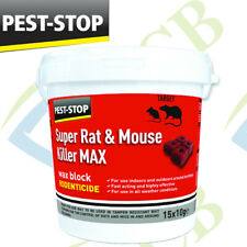 Pest-Stop Super Mouse and Rat Killer Fast Poison Wax Blocks 15 x 10g