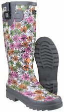 Cotswold Flower Power Impermeable Botas Wellington Mujer Mujer Botas agua uk3-8