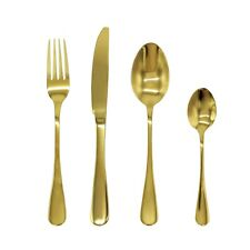 Heavy Stainless Steel Cutlery Sets Gold Spoons Forks 8/16/24 piece /32 piece set