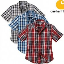 Carhartt Herren Kurzarm Hemd Slim Fit Plaid Short Sleeve Worker Short Kariert