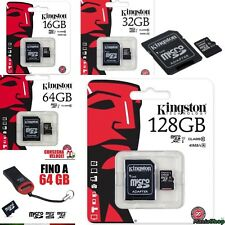KINGSTON MICRO SD 16 GB 32 GB 64 GB 128 GB CLASS 10 MICROSD SCHEDA PENDRIVER