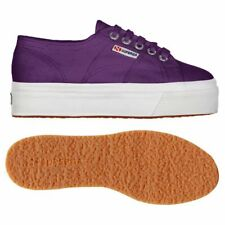 SUPERGA 2790 zeppa 4cm Scarpe DONNA 2790ACOTW LINEA UP AND DOWN ACOTW PRUGNA AF9