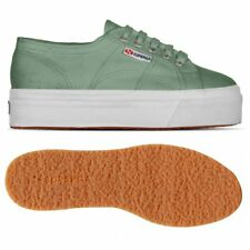 SUPERGA 2790 zeppa 4cm Scarpe DONNA 2790ACOTW LINEA UP AND DOWN Acotw Verde WF1p
