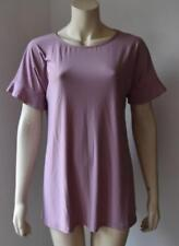 MAUVE SHORT SLEEVE STRETCHABLE TOP size M- XL  new with tag #10