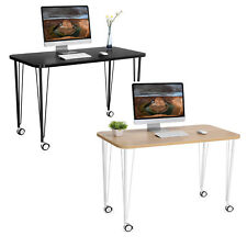 SONGMICS Bureau mobile Table d'ordinateur sur roulettes Table informatique