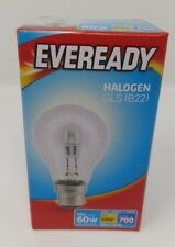 46w Halogen Clear Eco GLS Eveready Light Bulbs BC Bayonet Cap B22 Push In 60w