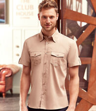 Russell Collection - Short Sleeve Twill Roll Shirt - Patch Pockets on Chest