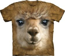 The Mountain Maglietta Big Face Alpaca Animal Adulto Unisex