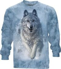Snow Plow Adulto Unisex Wolf Maglietta Manica L The Mountain