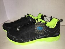 Athletic Works Size 8 Black Green Breathable Mesh Running Athletic Shoes NWT