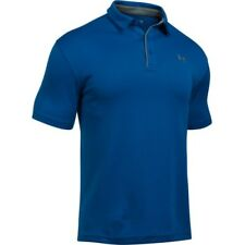 Under Armour Tech Mens T-shirt Polo Shirt - Royal All Sizes