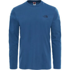 North Face Easy Mens T-shirt Long Sleeve - Shady Blue All Sizes