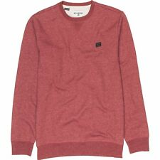 Billabong All Day Crew Mens Jumper - Fig Heather All Sizes
