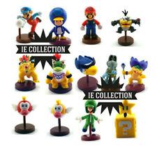 SUPER MARIO 13 STATUETTE PERSONAGGI CON SCATOLA bros. new U pinguastro morton