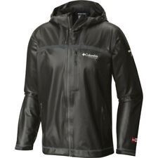 Columbia Outdry Stretch Hooded Hommes Veste Imperméables - Black Toutes Tailles