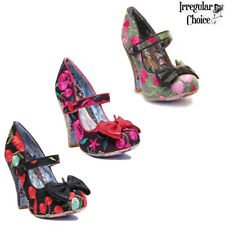 Irregular Choice Fancy This Women Multi Red Mary Jane High Heel Shoes