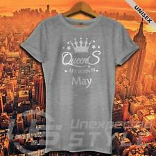 Reinas Are Born In May Camiseta Regalo De Cumpleaños Divertido Unisex Mujer