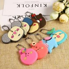 Silicone Key Ring Cap Head Cover Lovely Animals Shape Key Case Shell EA77 01