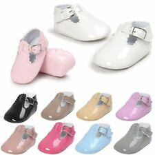 Newborn Baby Girl Soft Sole Princess Shoes Toddler Crib Moccasin Boots UK 0-18M