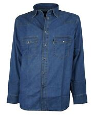 CHEMISE À MANCHES LONGUES POUR HOMME JEANS SEA BARRIER EXTRA GRANDE TAILLE